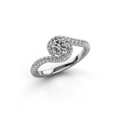 Foto van Verlovingsring Elli 585 witgoud diamant 0.752 crt