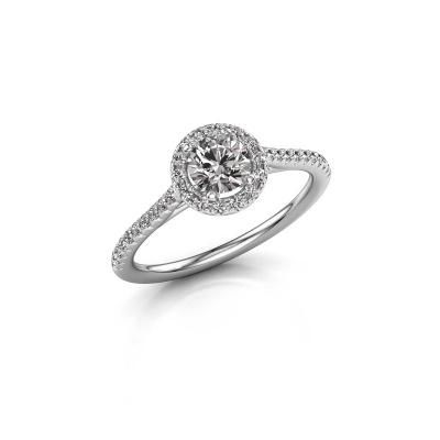 Picture of Engagement ring Seline rnd 2 950 platinum diamond 0.755 crt