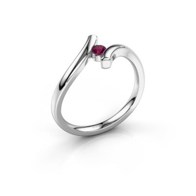 Picture of Ring Amy 585 white gold rhodolite 3 mm