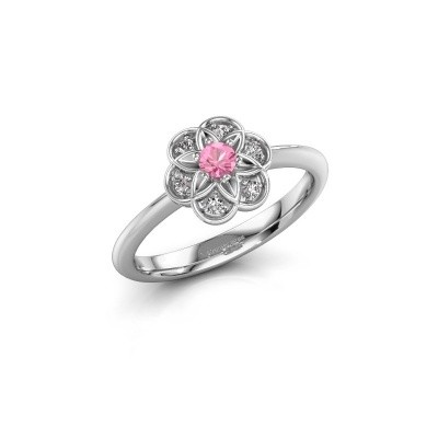 Engagement ring Uma 585 white gold pink sapphire 3 mm