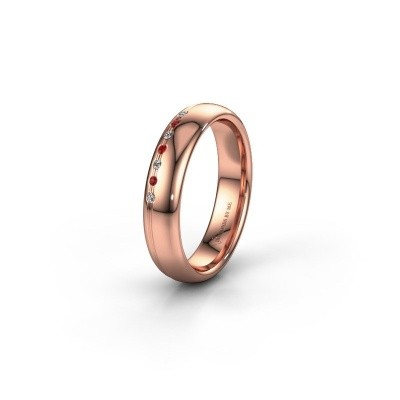 Friendship ring WH2144L34A 585 rose gold ruby ±0.16x0.07 in