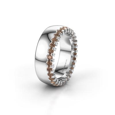 Ehering WH6120L27C 925 Silber Braun Diamant ±7x2.2 mm