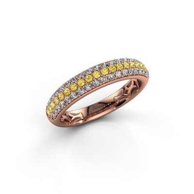 Bild von Ring Emely 4 375 Roségold Gelb Saphir 1.4 mm