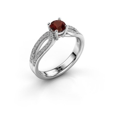Engagement ring Antonia 2 925 silver garnet 5 mm