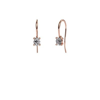 Picture of Drop earrings Cleo 375 rose gold diamond 1.00 crt