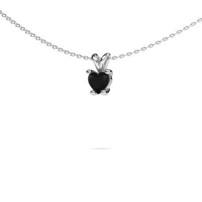 Foto van Ketting Sam Heart 950 platina zwarte diamant 0.60 crt
