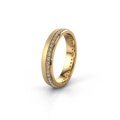 Trouwring WH0303L24AM 585 goud zirkonia ±4x1.7 mm