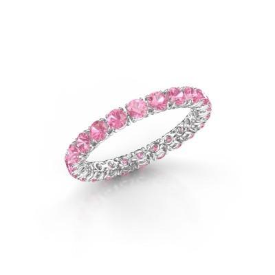 Foto van Ring Vivienne 2.7 585 witgoud roze saffier 2.7 mm