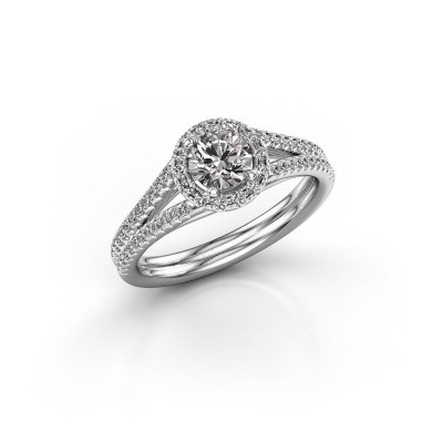 Foto van Verlovingsring Verla rnd 2 950 platina diamant 0.845 crt