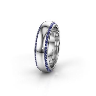 Wedding ring WH6132L36C 950 platinum sapphire ±0.24x0.09in