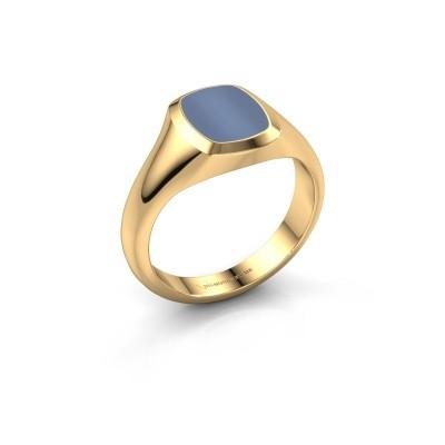 Foto van Pink ring Benjamin 1 585 goud licht blauwe lagensteen 10x8 mm
