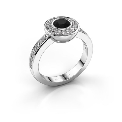 Bague Ivy 925 argent diamant noir 1.02 crt