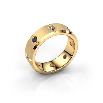 Herren ring Irwin 585 Gold Saphir 2.7 mm