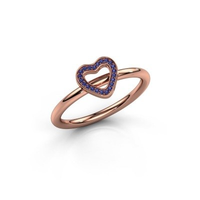 Bague Shape heart small 375 or rose saphir 0.8 mm