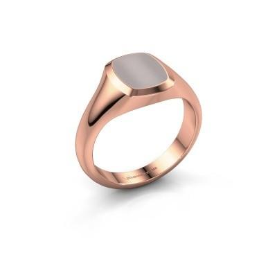 Foto van Pink ring Benjamin 1 375 rosé goud rode lagensteen 10x8 mm