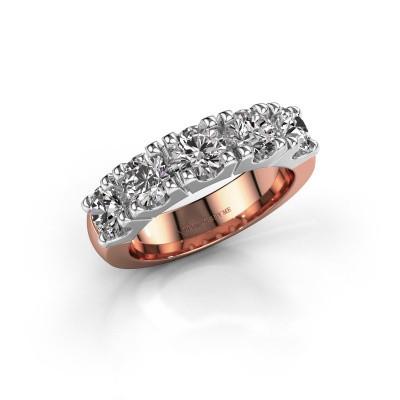 Foto van Aanzoeksring Rianne 5 585 rosé goud diamant 2.00 crt