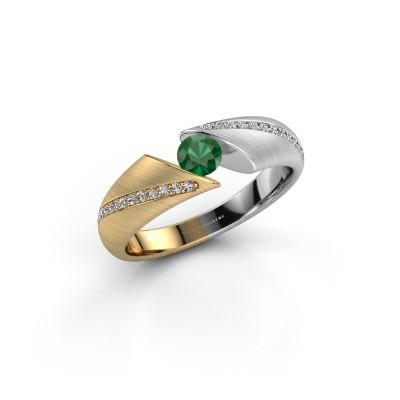 Foto van Ring Hojalien 2 585 goud smaragd 4 mm