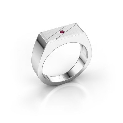 Men's ring Dree 3 950 platinum rhodolite 2 mm