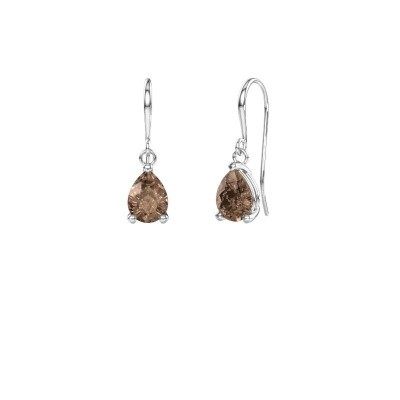 Drop earrings Laurie 1 375 white gold brown diamond 0.95 crt