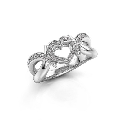 Ring Earlie 2 585 white gold zirconia 1.1 mm