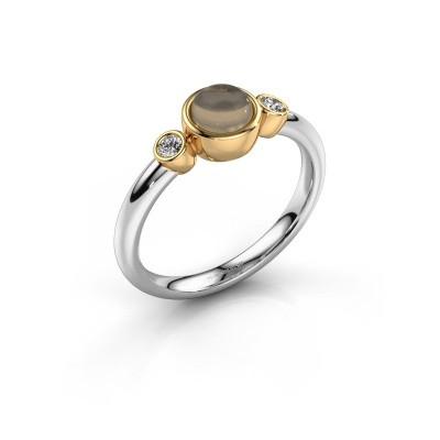 Ring Muriel 585 witgoud rookkwarts 5 mm
