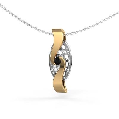 Anhänger Darleen 585 Gold Schwarz Diamant 0.12 crt