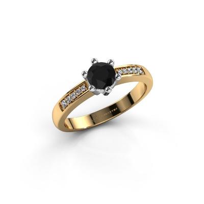 Foto van Verlovingsring Luna 2 585 goud zwarte diamant 0.60 crt
