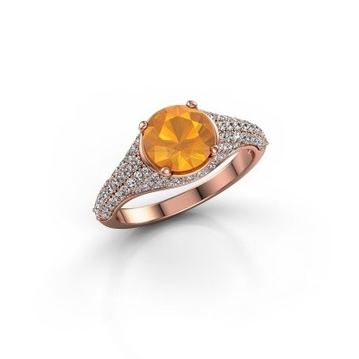 Foto van Ring Lovella 375 rosé goud citrien 7 mm