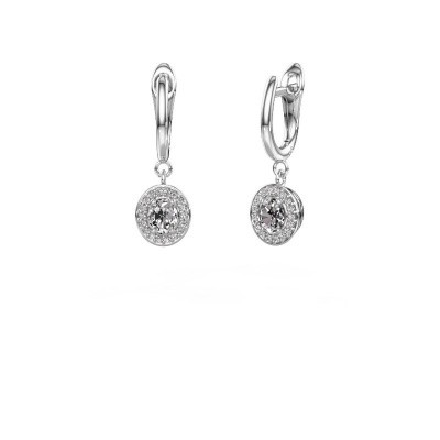 Drop earrings Nakita 950 platinum lab-grown diamond 0.880 crt