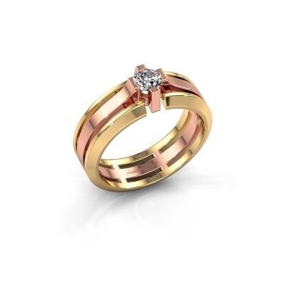 Heren ring Sem 585 rosé goud lab-grown diamant 0.40 crt