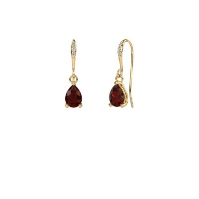 Picture of Drop earrings Laurie 2 585 gold garnet 7x5 mm