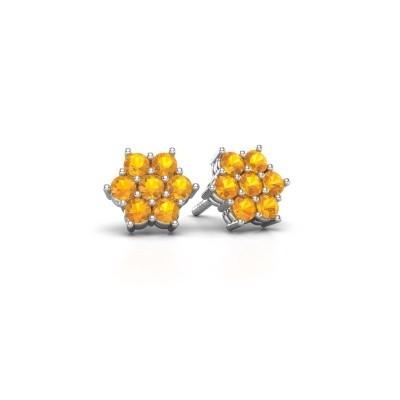 Foto van Oorstekers Bonita 585 witgoud citrien 2.4 mm