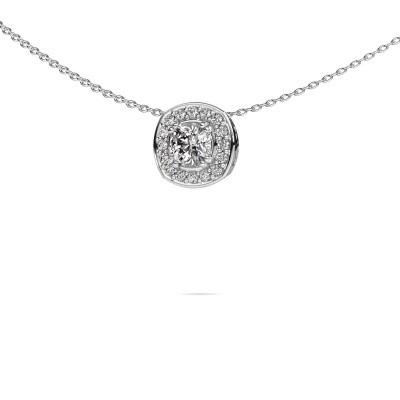 Foto van Ketting Carolina 375 witgoud lab-grown diamant 0.66 crt