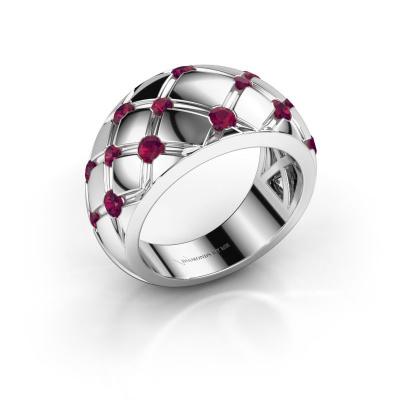 Ring Imke 585 white gold rhodolite 2.5 mm