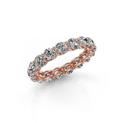 Foto van Aanschuifring Kirsten 3.7 375 rosé goud diamant 3.40 crt