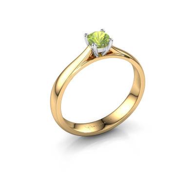 Engagement ring Sam 585 gold peridot 4.2 mm