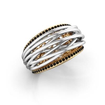 Foto van Ring Kirstin 585 goud zwarte diamant 0.324 crt