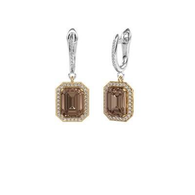 Oorhangers Dodie 2 585 goud bruine diamant 5.345 crt