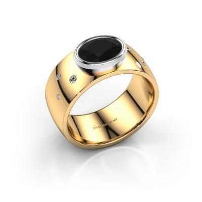 Ring Wilma 2 585 goud zwarte diamant 1.380 crt