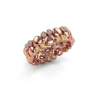 Foto van Ring Joanne 375 rosé goud gele saffier 1.4 mm