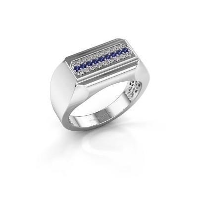 Heren ring Gerard 950 platina saffier 1.4 mm