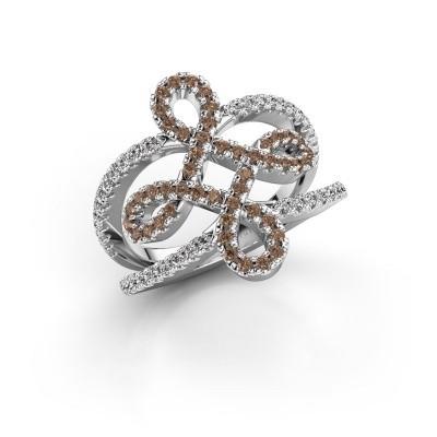 Foto van Ring Chantay 925 zilver bruine diamant 0.72 crt