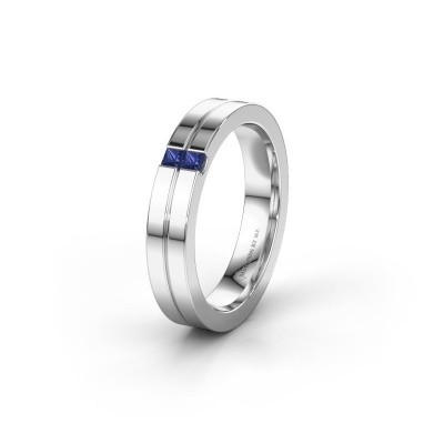 Wedding ring WH0225L14B 925 silver sapphire ±0.16x0.08 in