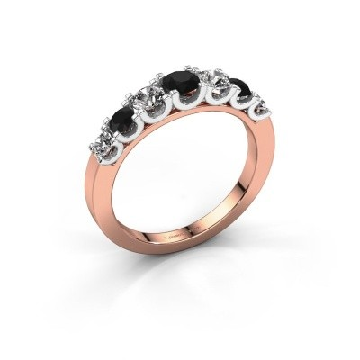 Picture of Engagement ring Selina 3 585 rose gold black diamond 0.94 crt