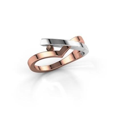 Ring Pamella 585 rose gold smokey quartz 2.2 mm