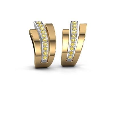 Earrings Emeline 585 white gold yellow sapphire 1.1 mm