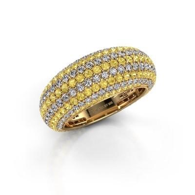 Foto van Ring Lyndia 375 goud gele saffier 0.8 mm