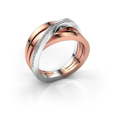 Foto van Ring Esmee 585 rosé goud diamant 0.145 crt