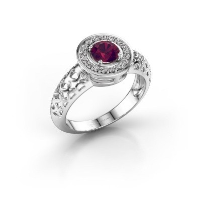 Picture of Ring Katalina 750 white gold rhodolite 5 mm