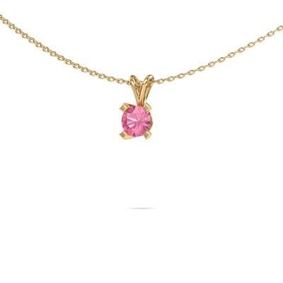 Foto van Hanger Eva 585 goud roze saffier 5 mm